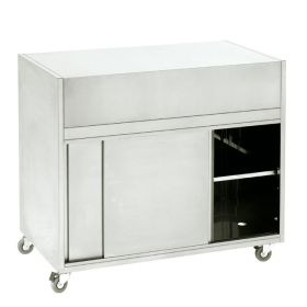 Roller Grill MS1 Wheeled Cupboard, Flat Top
