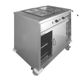 Parry MSB9 - Mobile Servery / Hot Cupboard With Bain Marie Top