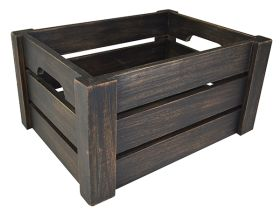 Black Washed Wooden Display Crate NAT-1014B