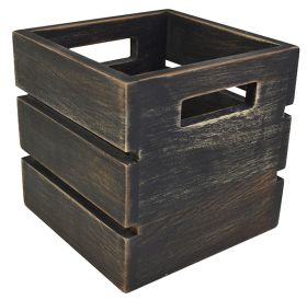Black Wash Mini Wooden Crate NAT-MCB