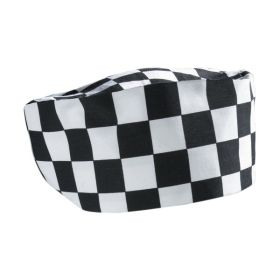 Big Black/White Check Beanie - Genware