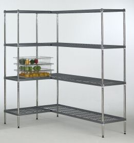 4 Tier Quartermaster Nylon Coated Shelving Bay - 450mm Deep