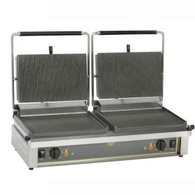 Roller Grill DOUBLE PANINI R Large Double -  Ribbed Top and Base Plates Contact Grill