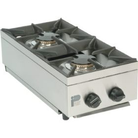 Parry AG2HP - 2 Burner Gas Boiling Top Hob Unit - LPG