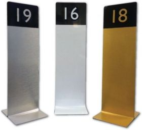 Slimline Tall Table Numbers For Restaurants / Cafes / Pubs