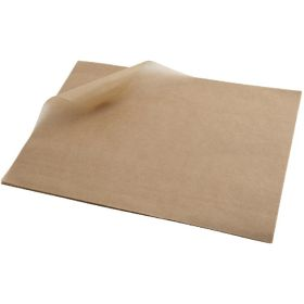Greaseproof Paper 25X20cm (1000 Shts) Brown - Genware