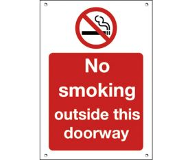 No Smoking Outside this doorway Restaurant / Cafe / Bar Sign - 200x150mm