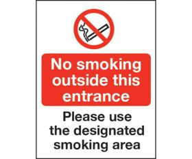 No smoking outside/ Use smoking areas - Cafe / Restaurant / Bar Sign 200x150mm