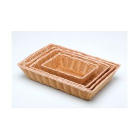 "Rectangular Polywicker Basket 16""X11""X3"" - Genware"