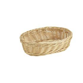 Oval Polywicker Basket 22.5 x 15.5 x 6.5cm - Genware