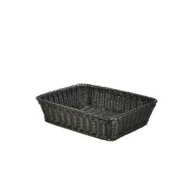 Polywicker Display Basket Black 36.5X29X9cm - Genware
