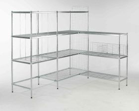 Quartermaster Zinc Coated Shelving - 600mm Deep