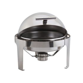 Round Deluxe Roll Top Chafing Dish 6L - Genware R901