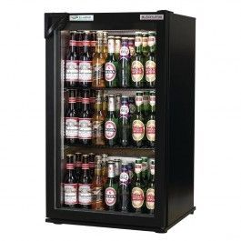 Autonumis RIC00001 EcoChill Single Black Hinged Door Bottle Cooler