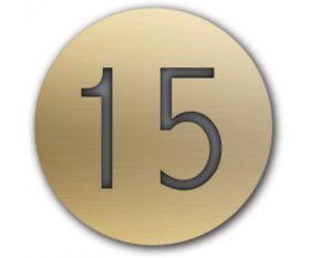Table Number Discs Gold Engraved for Restaurant / Cafe / Pub - Singles
