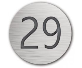 Table Number Discs Silver Engraved for Restaurant / Cafe / Pub - Pk 10