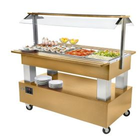 Roller Grill SB40F Chilled Buffet Unit -Light Oak