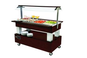 Roller Grill SB40F Chilled Buffet Unit -Dark Oak