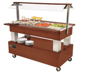 Roller Grill SB40F Chilled Buffet Unit -Mahogonay