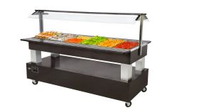 Roller Grill SB60F Refrigerated Buffet Display Unit - Dark Oak