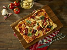 Acacia Wood Pizza Serving Board 40x30x2.5cm - Genware