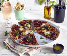 Terra Stoneware Rustic White Pizza Plate 33.5cm