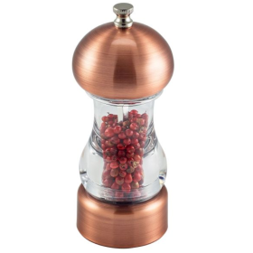 Antique Copper & Acrylic Salt/Pepper Grinder 14cm