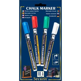 Chalkmarkers 4 Colour Pack (R,G,W,Bl) Small