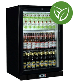 Sterling Pro Green SP1HC-BK Black Single Door Hinged Bottle Cooler 120 Ltrs