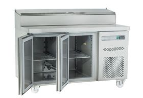 Sterling Pro SPPZ-135 Pizza Prep 2 Door Counter, 290 Ltrs + 8 x GN 1/4