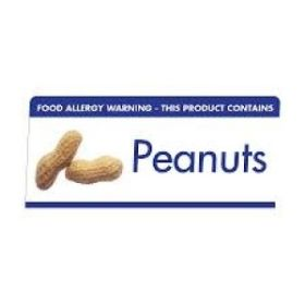 "Allergen Warning Buffet Tent Notice ""This Product Contains Peanuts"" BT009"