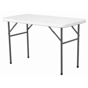 Solid Top Folding Table 4' White Hdpe