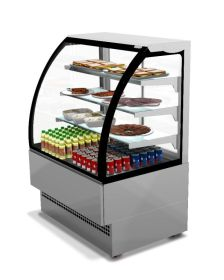 Sterling Pro EVO90 Chilled Patisserie Counter Curved Glass - Stainless Steel