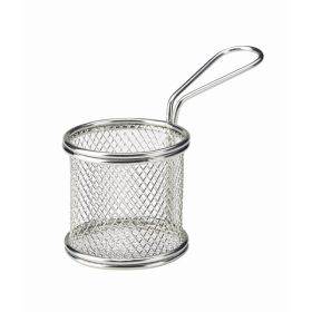 Serving Fry Basket Round 8X7.5cm - Genware