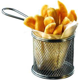 Serving Fry Basket Round 9.3 X 9cm - Genware