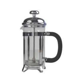 6 Cup Cafetiere Chrome Pyrex 26oz 800Ml - Genware