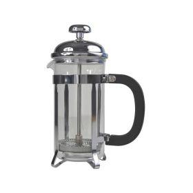 12 Cup Cafetiere Chrome Pyrex 48oz 1.5 Litre - Genware