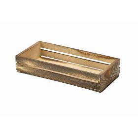 Wooden Crate Dark Rustic Finish 25 x 12 x 5cm - Genware
