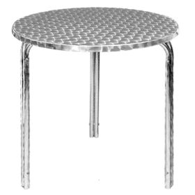 Bolero Round Stackable Bistro Table 600mm -  U431