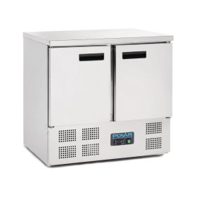 Polar U636 2 Door Compact Counter Fridge 240Ltr
