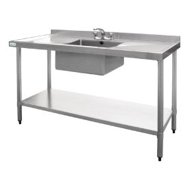 Vogue Stainless Steel Sink Double Drainer 1500mm - U907