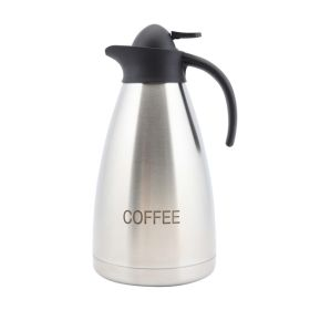 Coffee Inscribed Stainless Steel Contemporary Vac. Jug - Genware