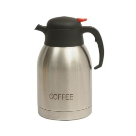 Coffee Inscribed Stainless Steel Vacuum Jug 2.0L - Genware