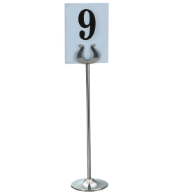 """Table Number Stand - Stainless Steel TNS-12 - 30cm / 12"""""""