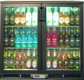 Infrico ZX2 - Bottle Cooler Double Door Black