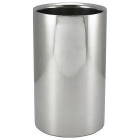 Polished Stainless Steel Wine Cooler 12 Ø X 20cm H