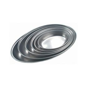 "Stainless Steel Oval Veg Dish 7""  (11061)"