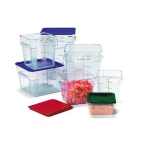 Lid Square Container 5.7/7.6L Red - Genware