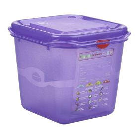 Purple Allergen Storage Container 1/6GM 150mm Deep 2.6L