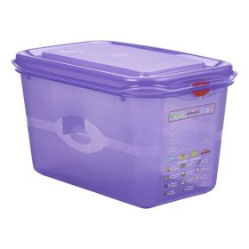 Purple Allergen Storage Container 1/4GN 150mm Deep 4.3L